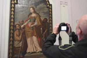 Svätá Alžbeta na obraze v Historickej radnici v Košiciach.