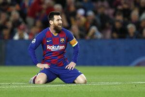 Lionel Messi v zápase Ligy majstrov 2019/2020 FC Barcelona - Slavia Praha.