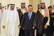 Jemenský prezident Abd Rabbuh Mansúr Hádí v sprievode saudskoarabského korunného princa Muhammada bin Salmána.