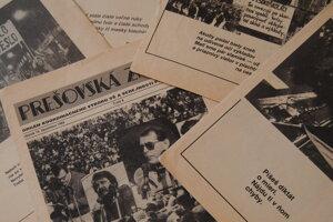 Tlač novembra '89 v Prešove.