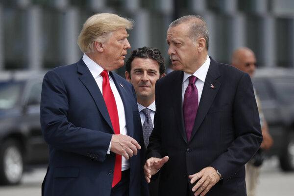 Recep Tayyip Erdogan a Donald Trump.