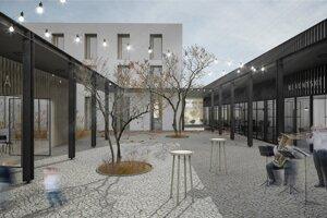 Víťazný návrh rekonštrukcie budovy mestského úradu v Senci, od ateliéru DKLN