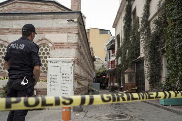 Miesto nálezu tela Jamesa Le Mesuriera v Istanbule.