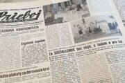 Na hlavičke regionálnych novín ani počas revolúcie nechýbalo známe komunistické heslo.