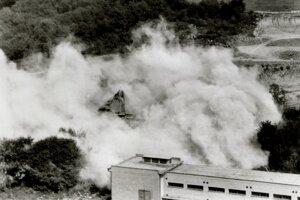 Dym po vranovskej synagóge.