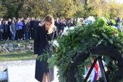 Prezidentka Zuzana Čaputová počas pietnej spomienky na obete komunistického režimu.