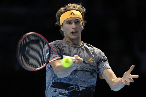 Alexander Zverev na turnaji ATP Finals 2019 v Londýne.