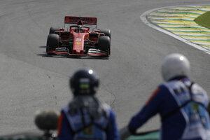 Sebastian Vettel počas Veľkej ceny Brazílie.