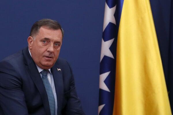 Milorad Dodik, srbský člen prezidentského úradu Bosny a Hercegoviny.