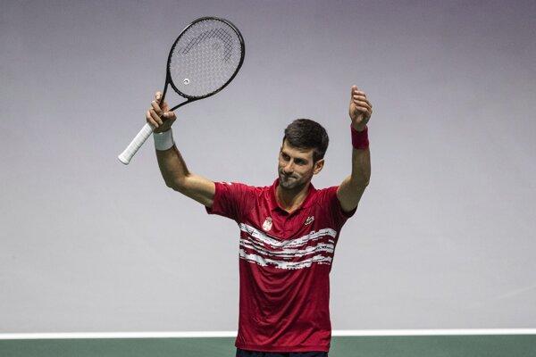 Novak Djokovič na finálovom turnaji Davisovho pohára 2019 v Madride.