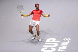 Rafael Nadal na finálovom turnaji Davisovho pohára 2019.