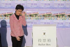 Hlavná správkyňa Hongkongu Carrie Lamová.