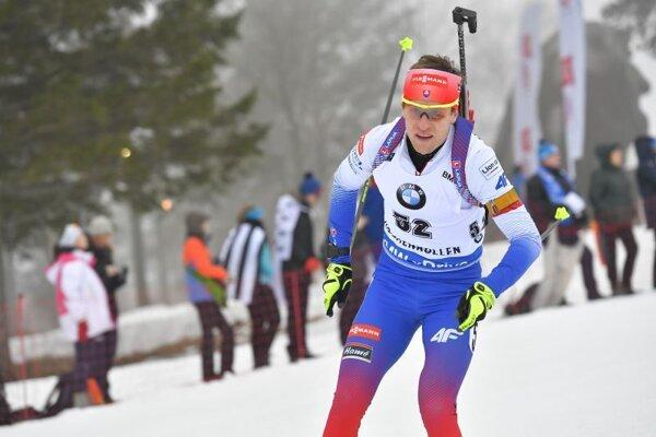 Slovenský biatlonista Martin Otčenáš.