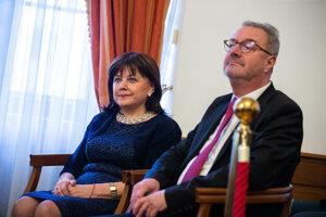 Alena Šišková a Ján Šikuta na Súdnej rade.