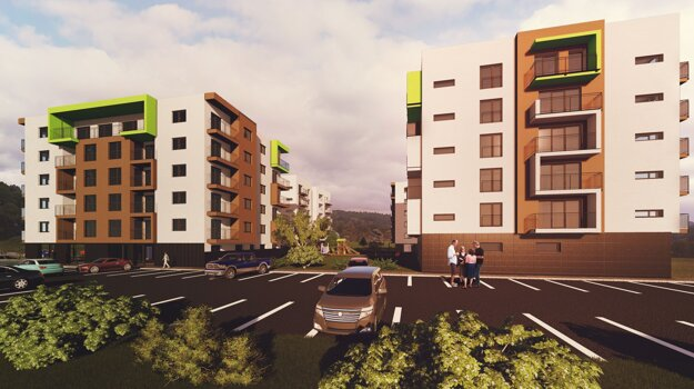 Ku každému bytu patrí pivnica a jedno parkovacie miesto.