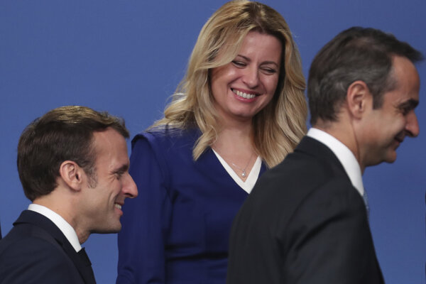 Prezidentka Čaputová a francúzsky prezident Macron.