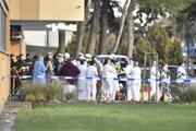 Zamestnanci ostravskej nemocnice po streľbe.