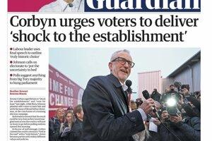 Corbyn odkazuje voličom, aby šokovali zriadenie.