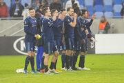 Futbalisti Slovana po prehre s Bragou.