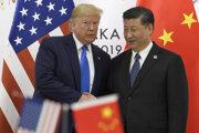 Americký prezident Donald Trump a prezident Číny Si Ťin-pching.