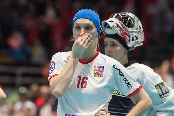 Florbalistky Česka po semifinále MS vo florbale žien 2O19.