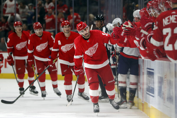 Hokejisti Detroitu Red Wings.
