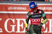 Mikaela Shiffrinová v cieli 2. kola obrovského slalomu vo francúzskom Courcheveli.