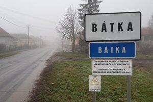 Na snímke vjazd do obce Bátka v okrese Rimavská Sobota.