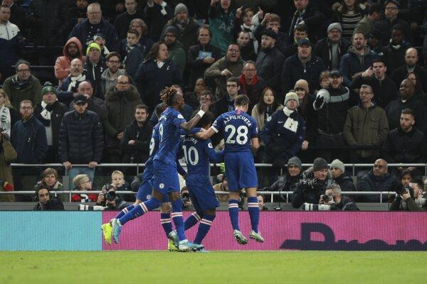 Radosť hráčov Chelsea.