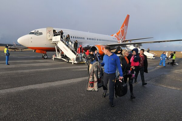 Prílet ukrajinských turistov do Popradu.