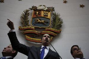 Opozičný líder Juan Guaidó.