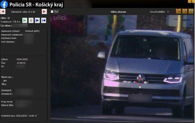 Vodič sa ponáhľal po Tr. KVP v Košiciach