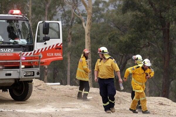 Austrálski hasiči.