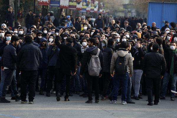 Protest v Iráne.