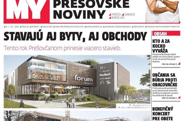 Najnovšie číslo Prešovských novín v predaji do 20. 1.
