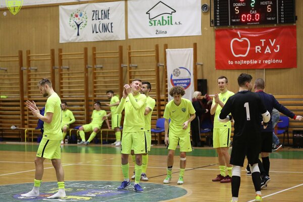 Hráči MŠK Žilina futsal. (Ilustračné foto)
