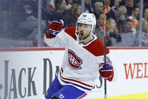 Tomáš Tatar v drese klubu Montreal Canadiens.