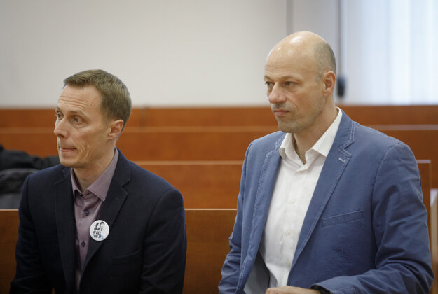 Redaktori portálu Aktuality.sk Marek Vagovič a Dag Daniš.