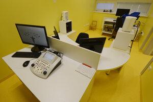Miestnosť VRA – audiometria detí so zrakovým posilnením vo foniatrickej ambulancii.