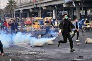 Protivládny protest v Bagdade.