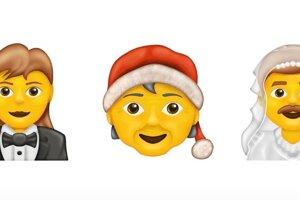 Niektoré z nových emoji, ktoré pribudnú v roku 2020.