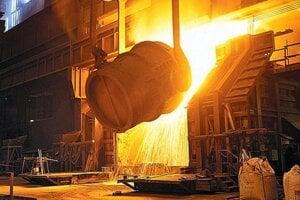 Objem vyrobenej ocele vlani poklesol.