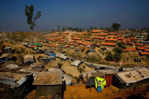 Utečenecký tábor Balukhali približne 50 kilometrov od mesta Cox's Bazar v Bangladéši.