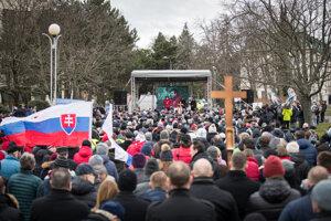 Protest proti Istanbulskému dohovoru zorganizoval Slovenský dohovor za rodinu.