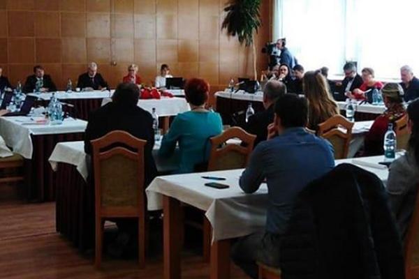 Kežmarskí poslanci na svojom poslednom rokovaní.