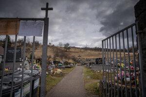 Cintorín v Štiavniku, kde je pochovaný Ján Kuciak.