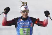 Johannes Thingnes Boe sa teší z víťazstva.