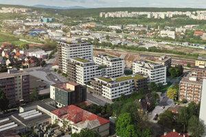 Vizualizácia projektu Rezidencia Albelli.