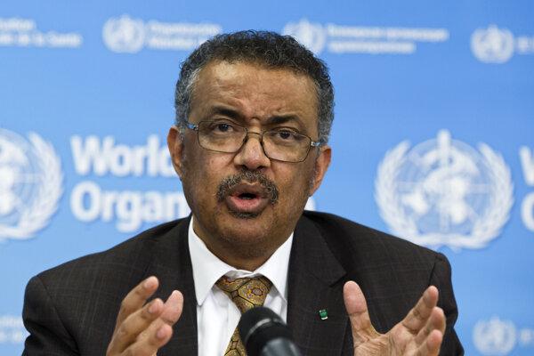 Riaditeľ Svetovej zdravotníckej organizácie (WHO) Tedros Adhanom Ghebreyesus.