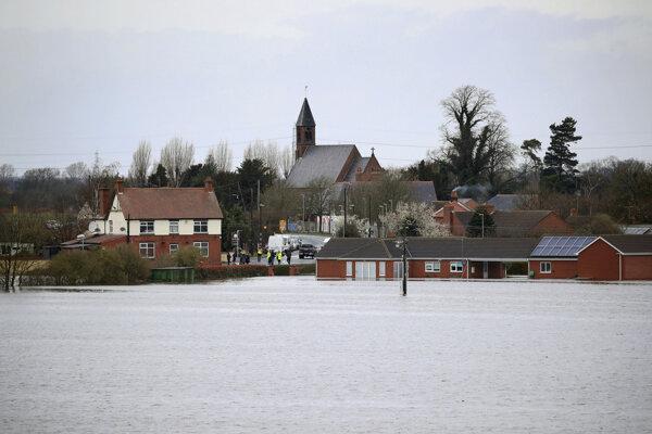 Záplavy v meste East Cowick.